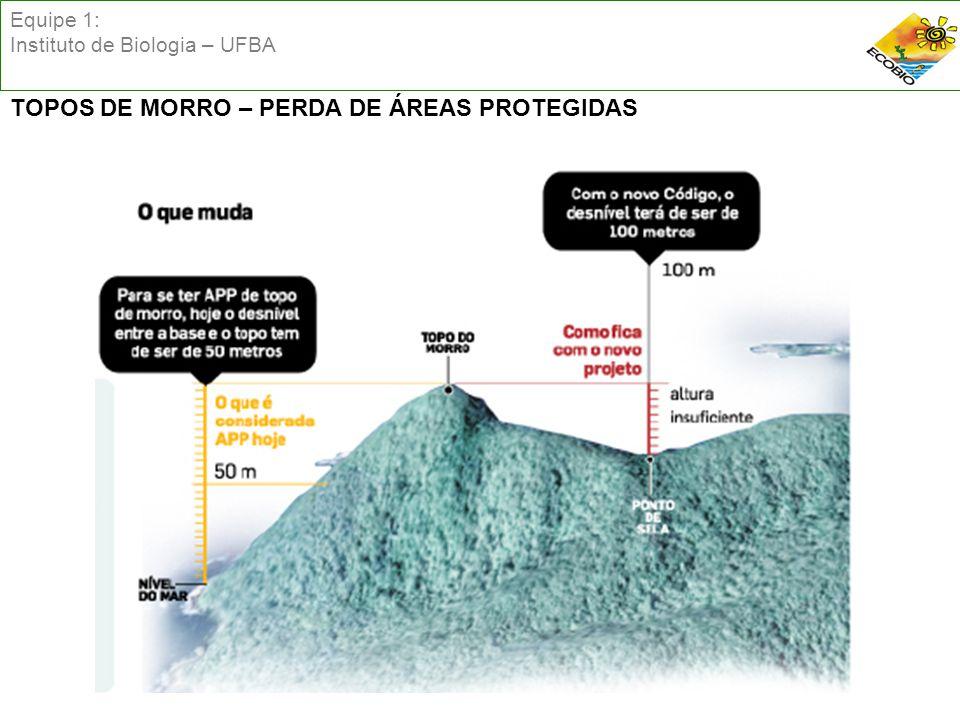 Equipe 1: Instituto de Biologia – UFBA TOPOS DE MORRO – PERDA DE ÁREAS PROTEGIDAS
