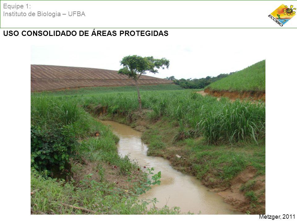 Equipe 1: Instituto de Biologia – UFBA USO CONSOLIDADO DE ÁREAS PROTEGIDAS Metzger, 2011