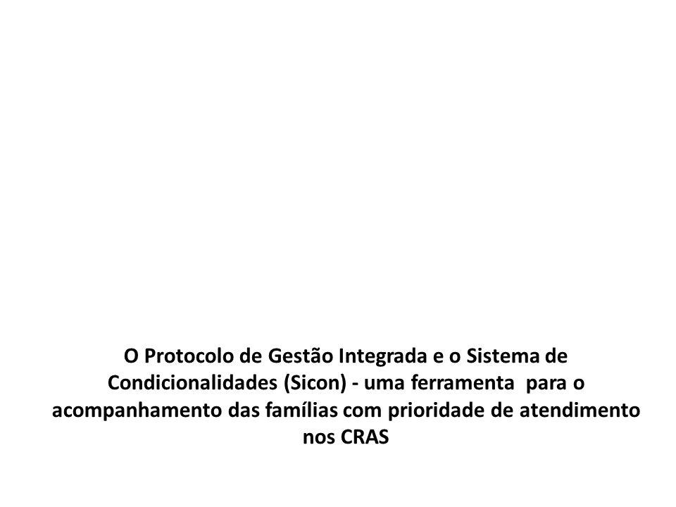 O Protocolo de Gestão Integrada e o Sistema de Condicionalidades (Sicon) - uma ferramenta para o acompanhamento das famílias com prioridade de atendim