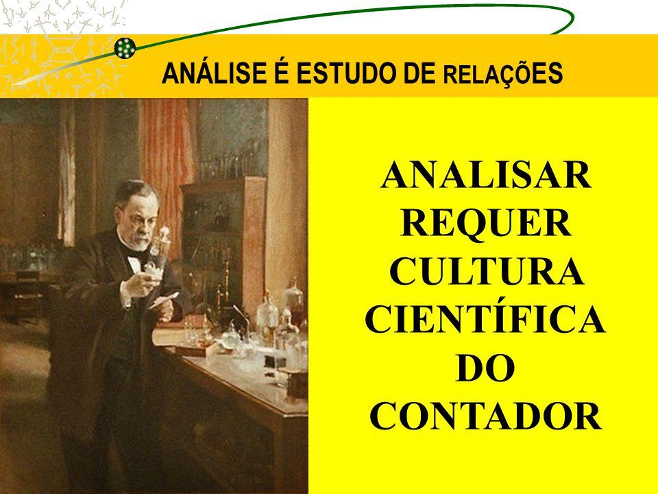 ANÁLISE É ESTUDO DE RELAÇÕ ES ANALISAR REQUER CULTURA CIENTÍFICA DO CONTADOR