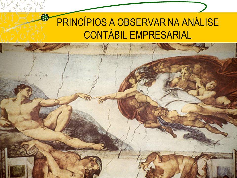PRINCÍPIOS A OBSERVAR NA ANÁLISE CONTÁBIL EMPRESARIAL