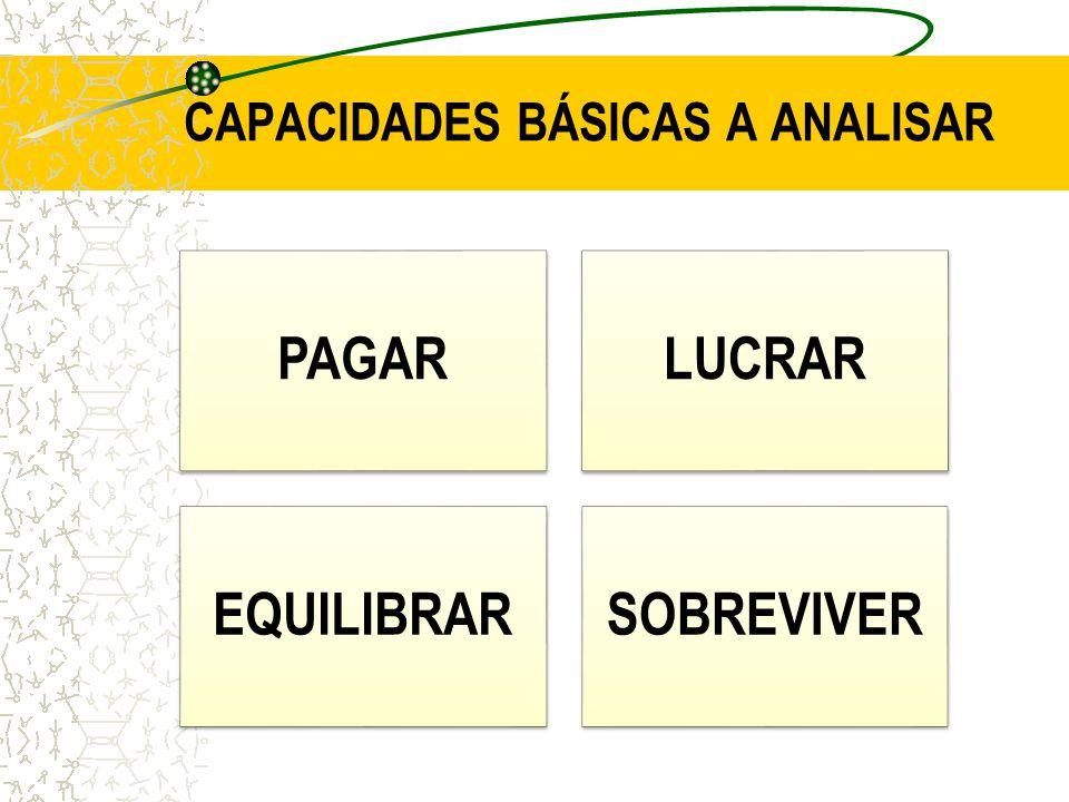 CAPACIDADES BÁSICAS A ANALISAR PAGARLUCRAR EQUILIBRARSOBREVIVER