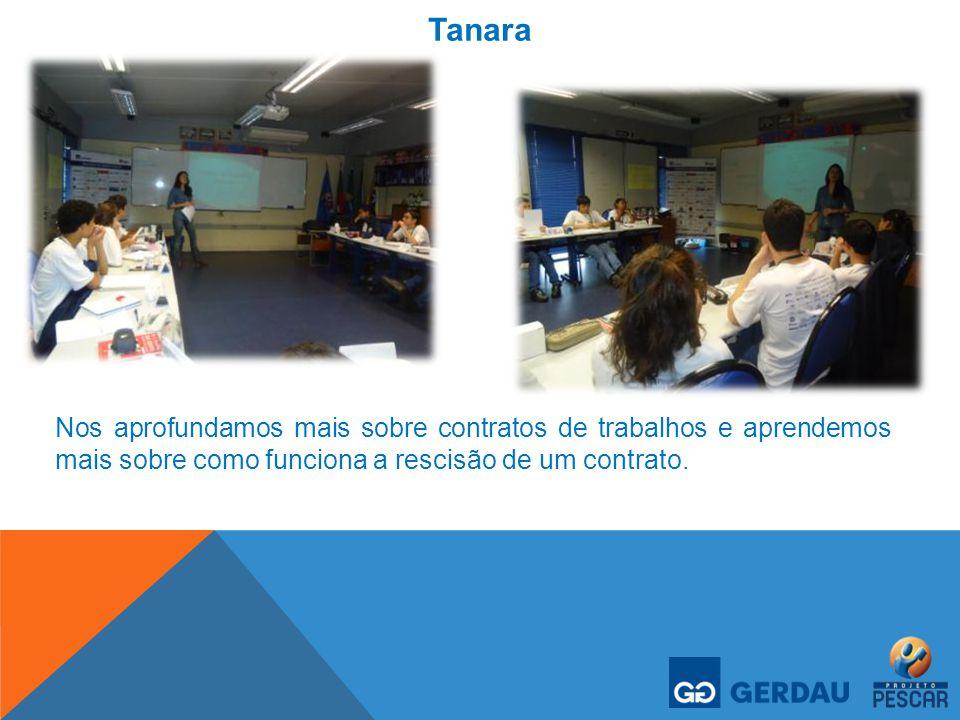 Tanara Nos aprofundamos mais sobre contratos de trabalhos e aprendemos mais sobre como funciona a rescisão de um contrato.