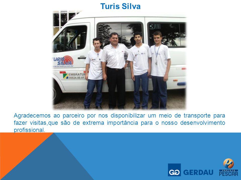 Turis Silva Agradecemos ao parceiro por nos disponibilizar um meio de transporte para fazer visitas,que são de extrema importância para o nosso desenv