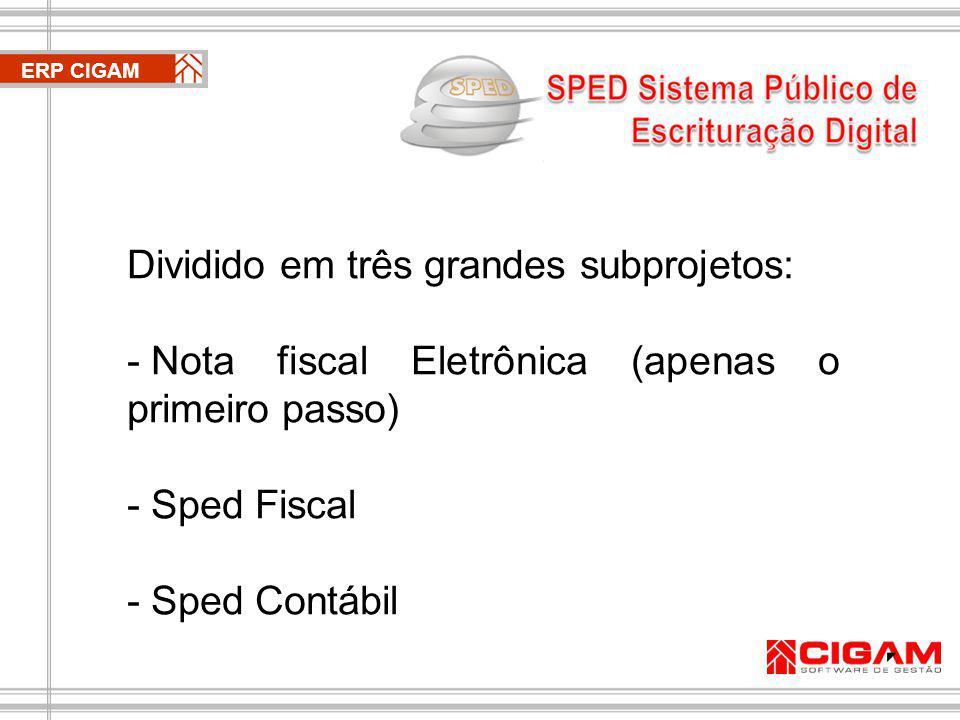 ERP CIGAM Apenas o primeiro passo Tratado pela CIGAM como evolução Nota Fiscal Eletrônica