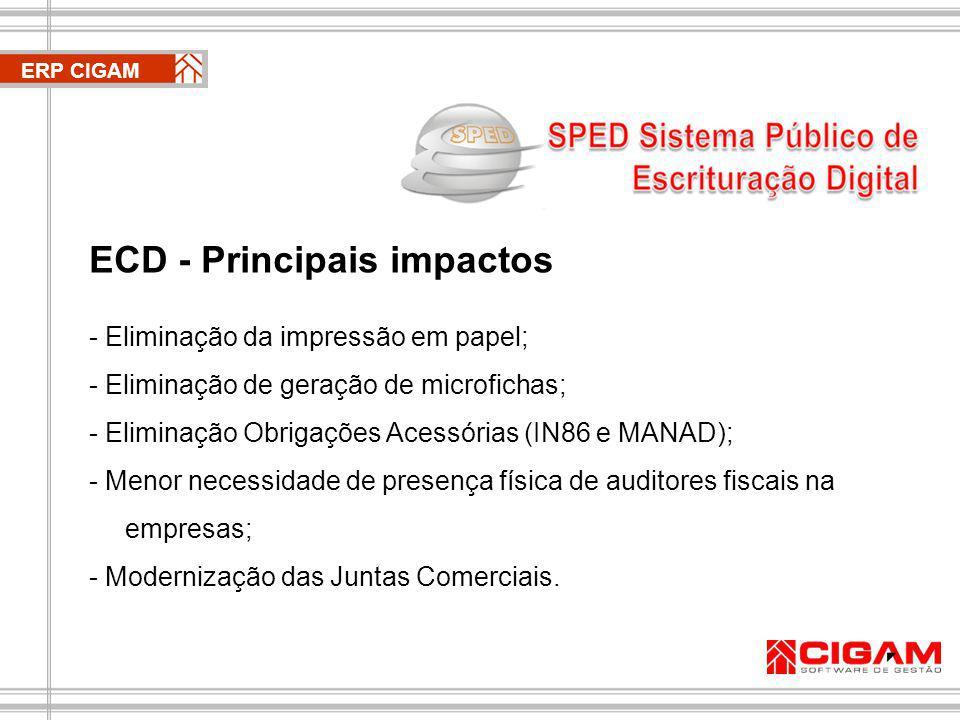 ERP CIGAM 2 - Conhecer os objetivos A ideia é permitir uma maior integração do Fisco em todas as suas esferas.
