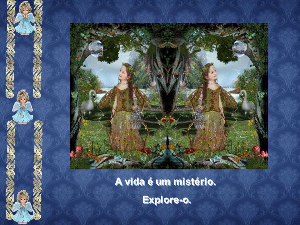 A vida é um mistério. Explore-o. A vida é um mistério. Explore-o.
