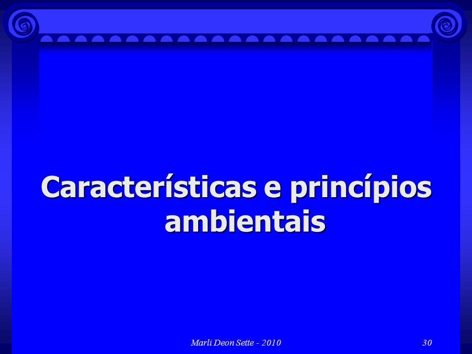 Marli Deon Sette - 201030 Características e princípios ambientais