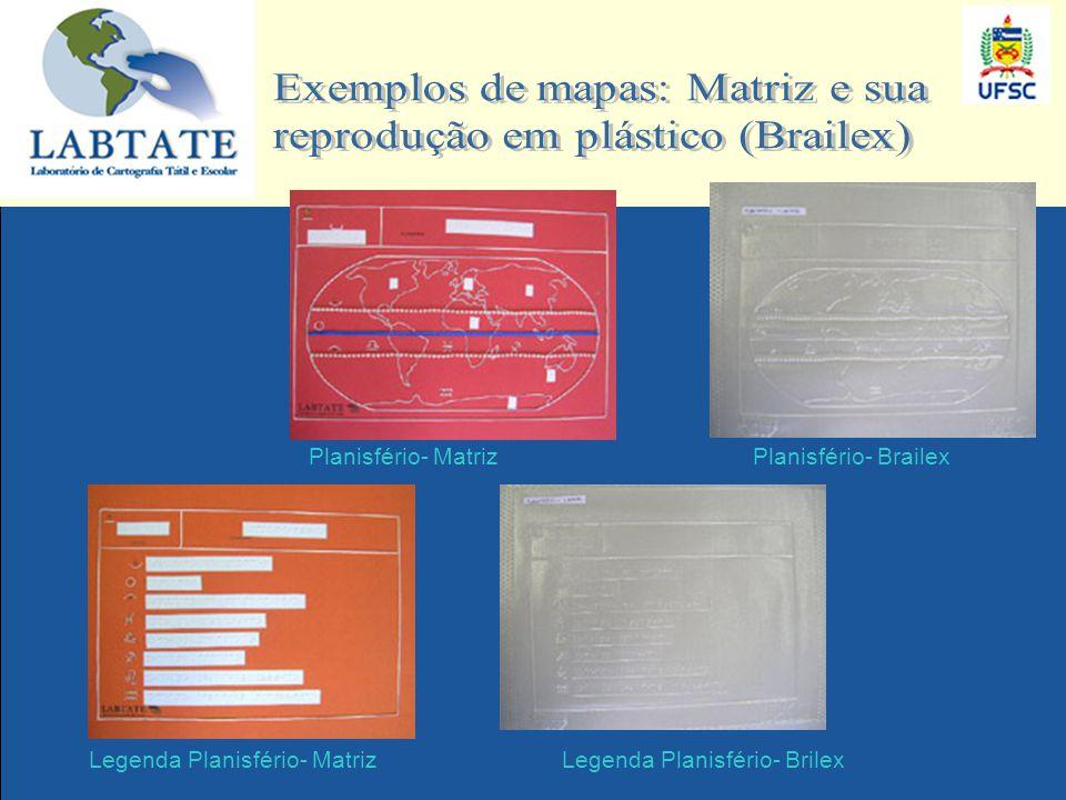 Planisfério- Brailex Legenda Planisfério- BrilexLegenda Planisfério- Matriz Planisfério- Matriz