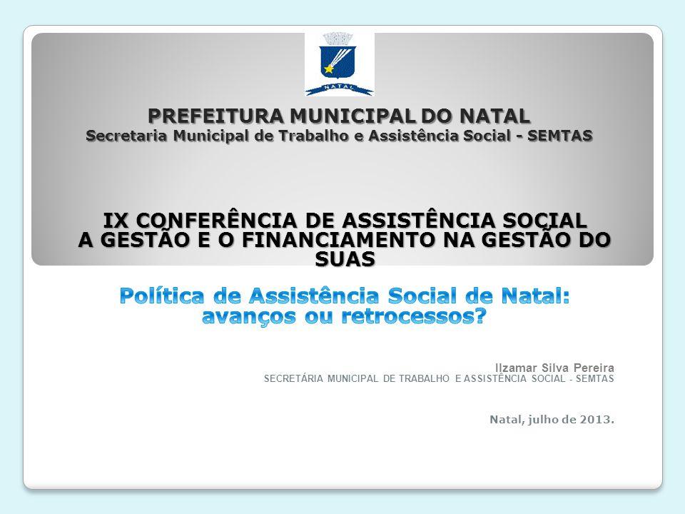 O processo de discussão – e consequentes desdobramentos para a gestão e financiamento na efetivação do SUAS – deve pautar-se pela avaliação do quadro atual da política de assistência social, com ênfase na atuação da gestão municipal nos últimos 8 anos.