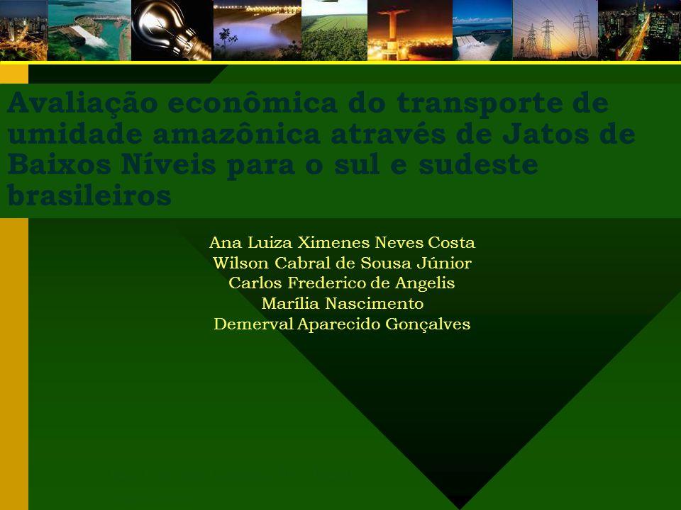 Avaliação econômica do transporte de umidade amazônica através de Jatos de Baixos Níveis para o sul e sudeste brasileiros São José dos Campos, SP – Br