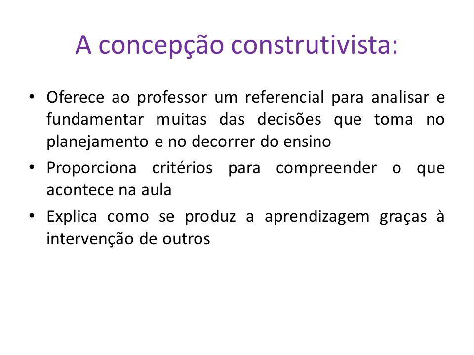 A concepção construtivista do ensino e da aprendizagem : algumas ideias diretrizes que podem guiar e orientar as práticas de avaliação