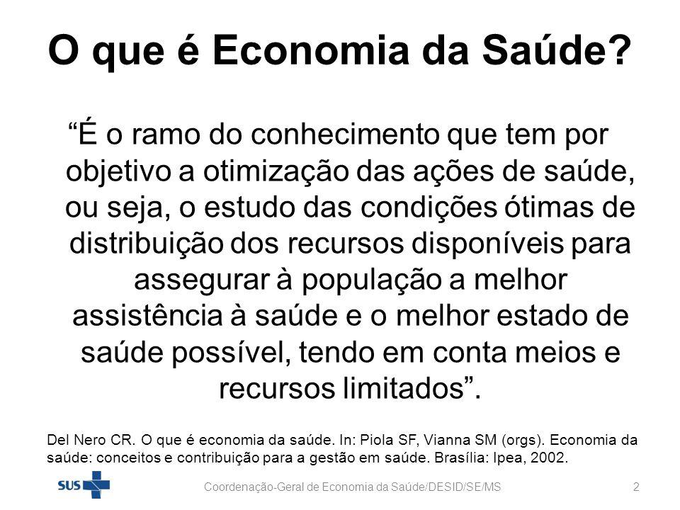 Arranjo Nacional da REDE ECOS Coordenação-Geral de Economia da Saúde/DESID/SE/MS13