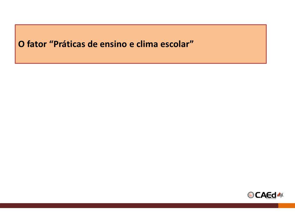 O fator Práticas de ensino e clima escolar
