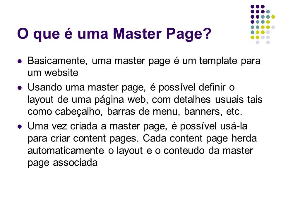 O que é uma Master Page.