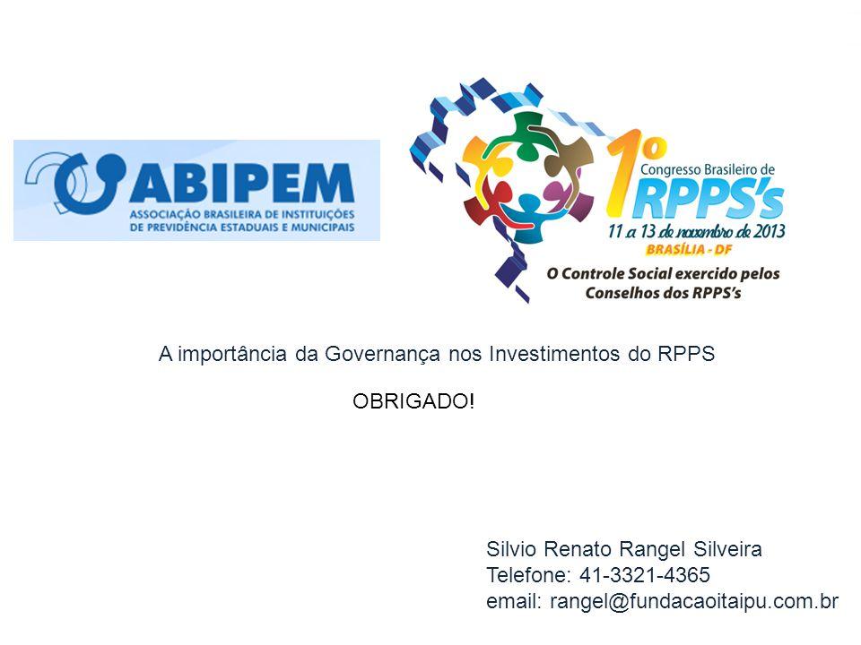 Novembro 2013, Silvio Rangel, slide 50 Silvio Renato Rangel Silveira Telefone: 41-3321-4365 email: rangel@fundacaoitaipu.com.br OBRIGADO! A importânci