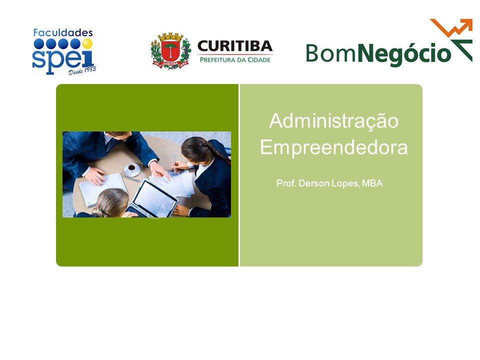 Administração Empreendedora Prof. Derson Lopes, MBA