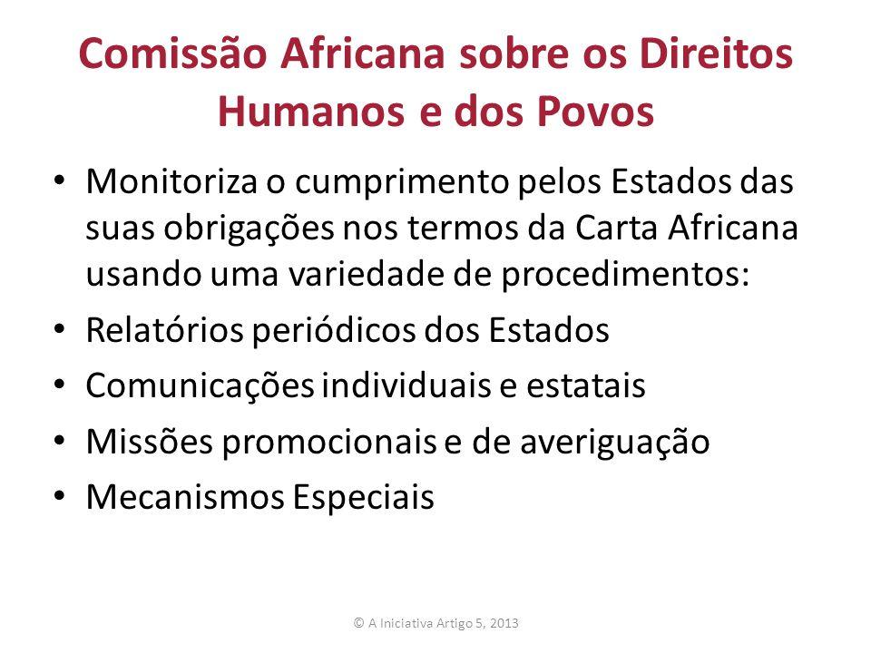Comissão Africana sobre os Direitos Humanos e dos Povos Monitoriza o cumprimento pelos Estados das suas obrigações nos termos da Carta Africana usando