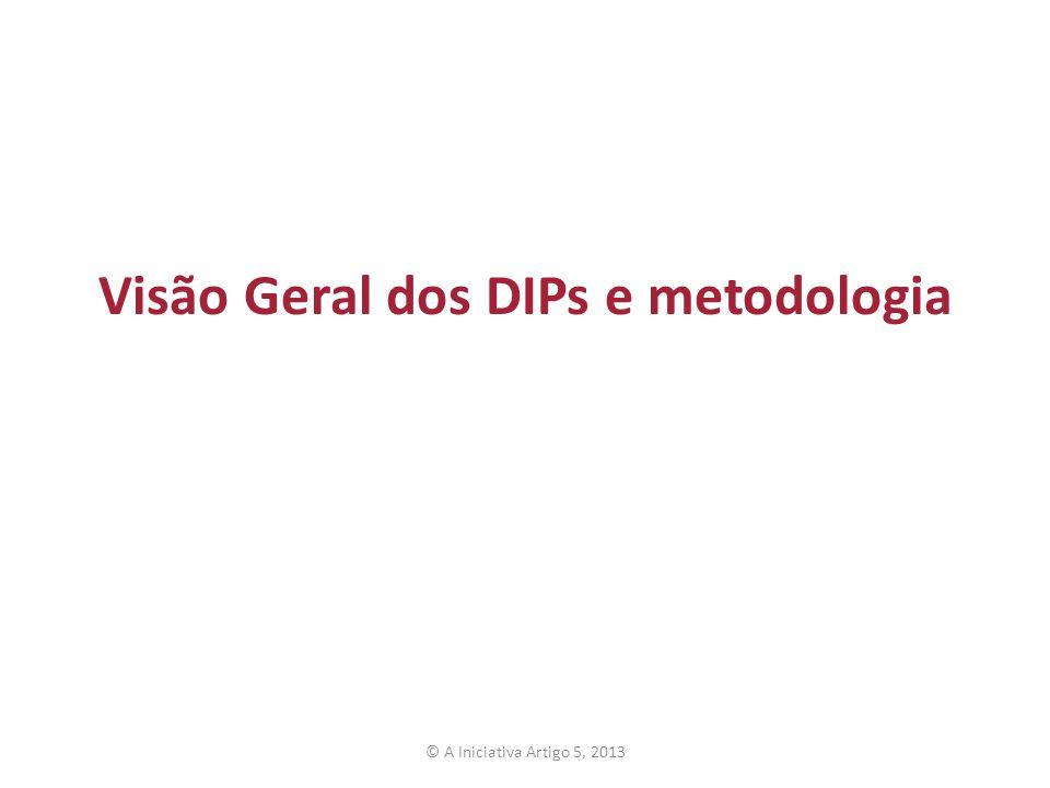 Visão Geral dos DIPs e metodologia © A Iniciativa Artigo 5, 2013