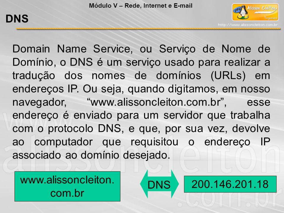 Domain Name Service, ou Serviço de Nome de Domínio, o DNS é um serviço usado para realizar a tradução dos nomes de domínios (URLs) em endereços IP. Ou