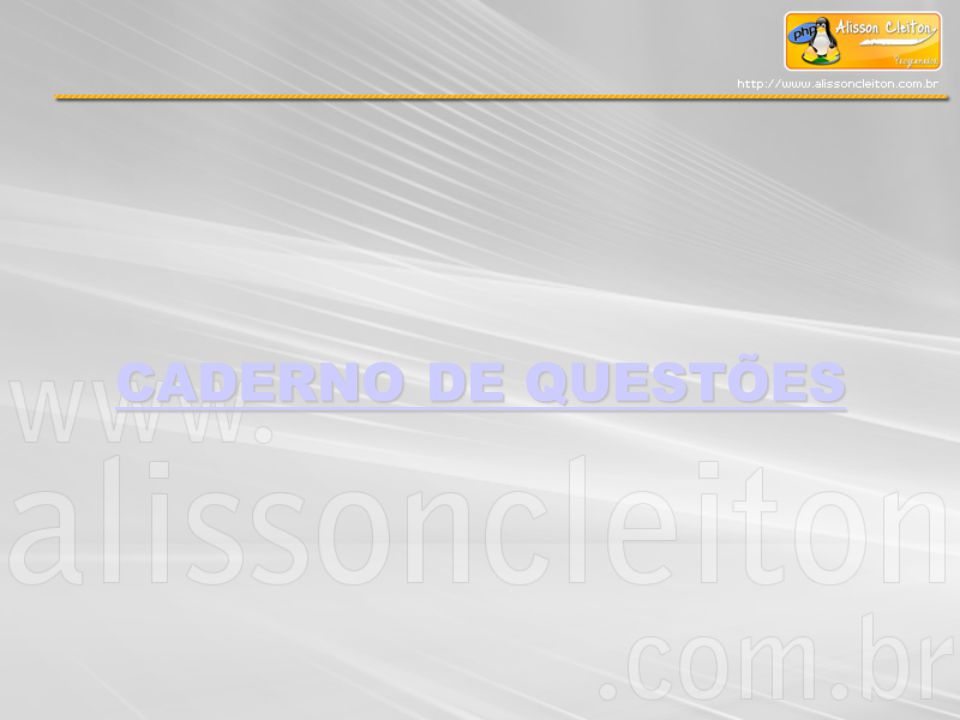 CADERNO DE QUESTÕES CADERNO DE QUESTÕES