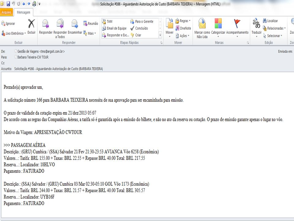1 – Aprovação Link do e-mail: