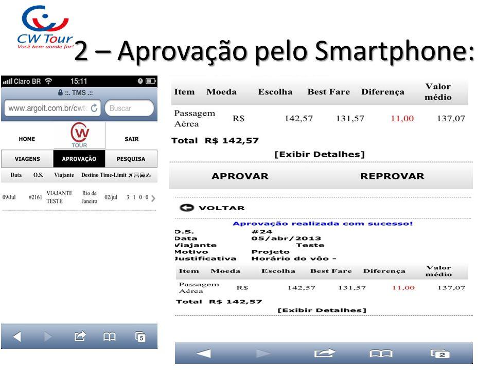 2 – Aprovação pelo Smartphone: