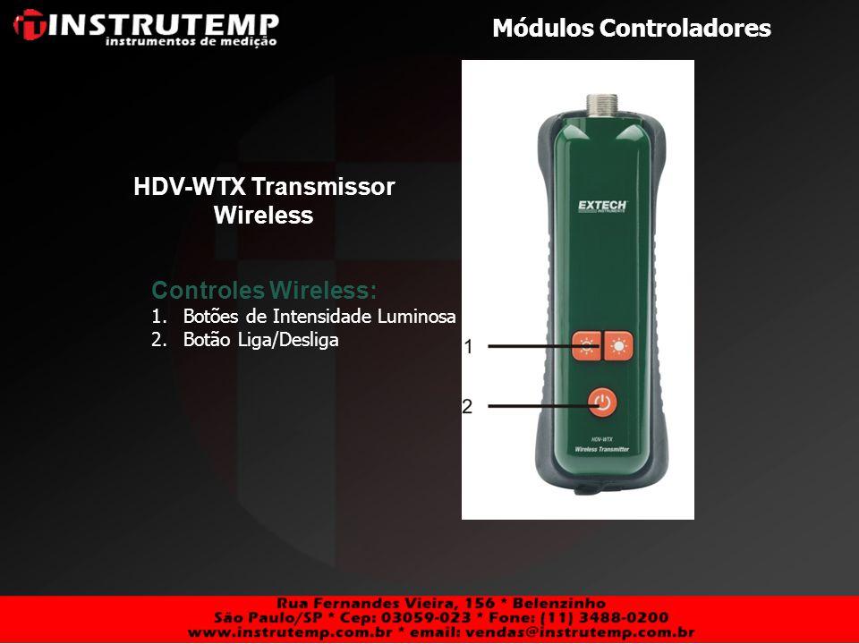 Módulos Controladores HDV-TX1 e HDV-TX2 Controladores Articuláveis 6mm Modelos HDV-WTX1 e HDDV-WTX2 wireless disponíveis Articulation Controls: 1.Botão de Fricção 2.Botão de Controle da Articulação