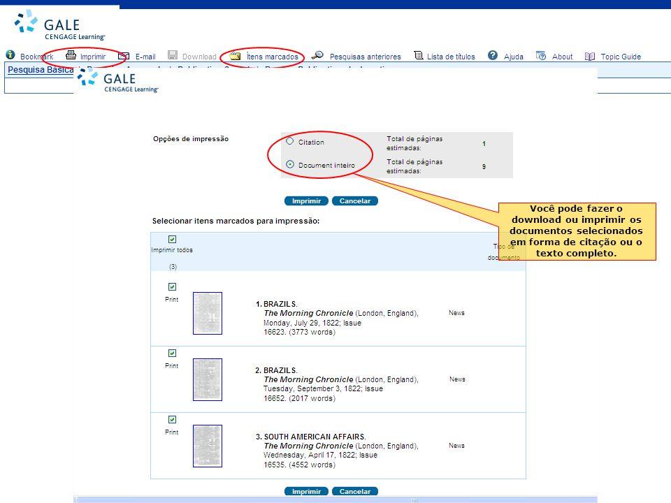 Você pode fazer o download ou imprimir os documentos selecionados em forma de citação ou o texto completo.