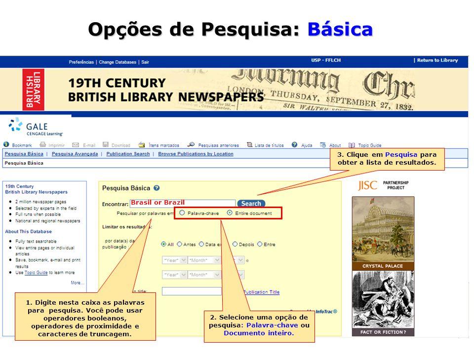 Visualização do Resultado Aqui está a sua estratégia de busca e informações da edição da publicação Por fim, o texto completo do artigo com as opções de visualização.