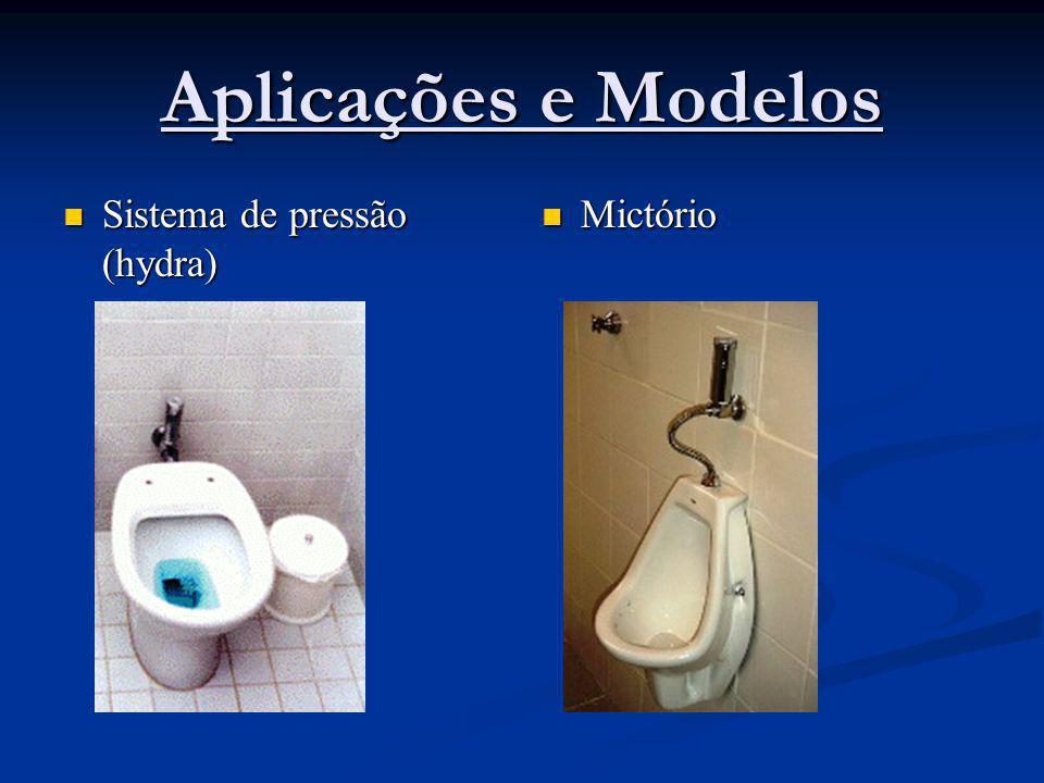 Aplicações e Modelos Sistema de pressão (hydra) Sistema de pressão (hydra) Mictório