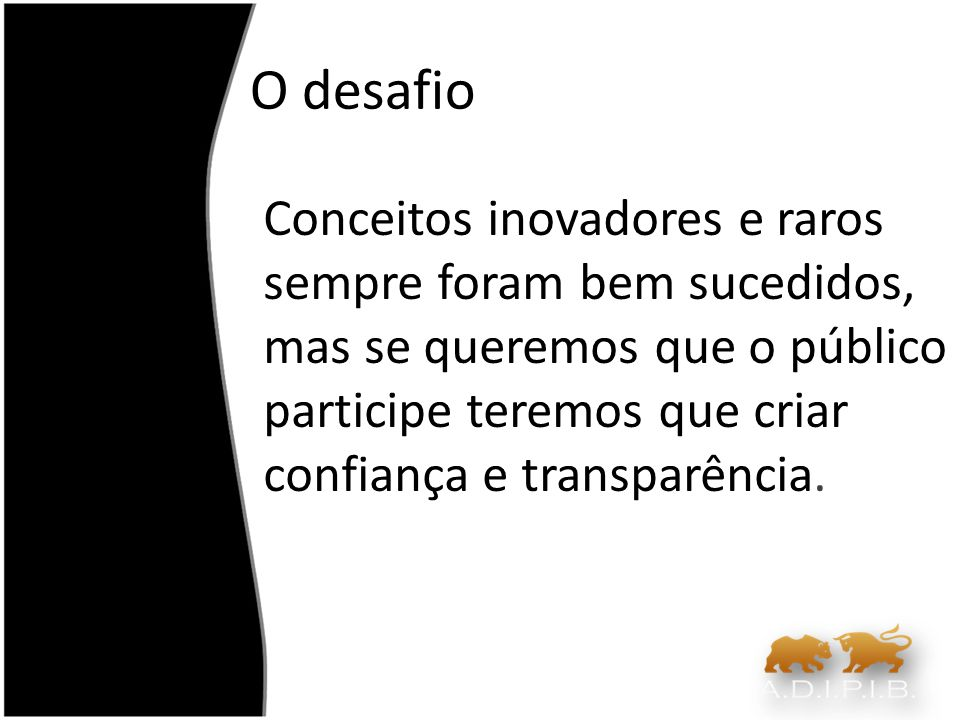 Problemas do mercado accionista português A sua dimensão, periférica em relação aos grandes mercados mundiais As empresas nacionais são, com raras excepções, muito pequenas Liquidez, dimensão e interesse limitados para investimentos estrangeiros na Bolsa portuguesa