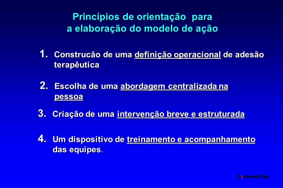 Princípios de orientação para a elaboração do modelo de ação 1.