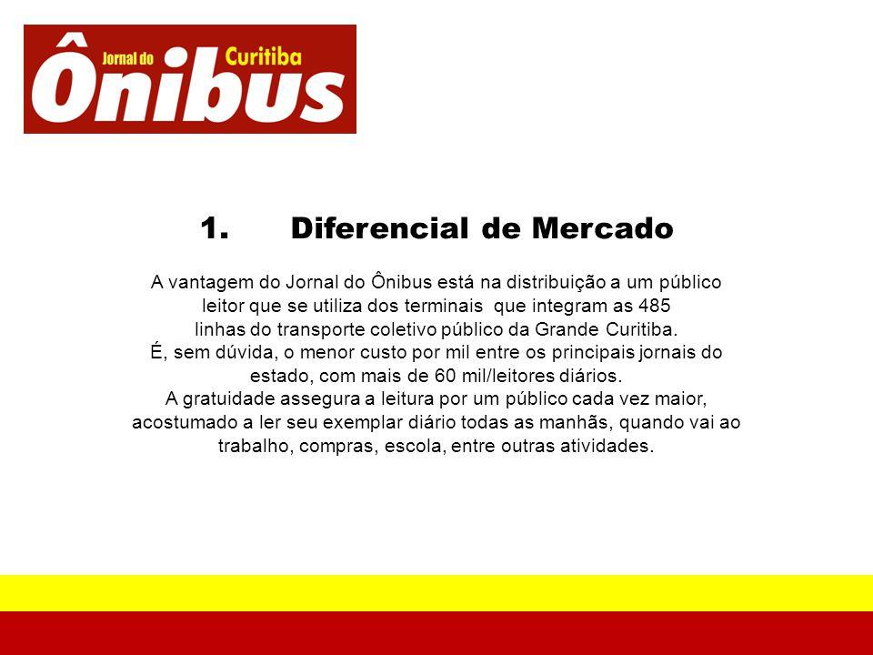 1. Diferencial de Mercado A vantagem do Jornal do Ônibus está na distribuição a um público leitor que se utiliza dos terminais que integram as 485 lin