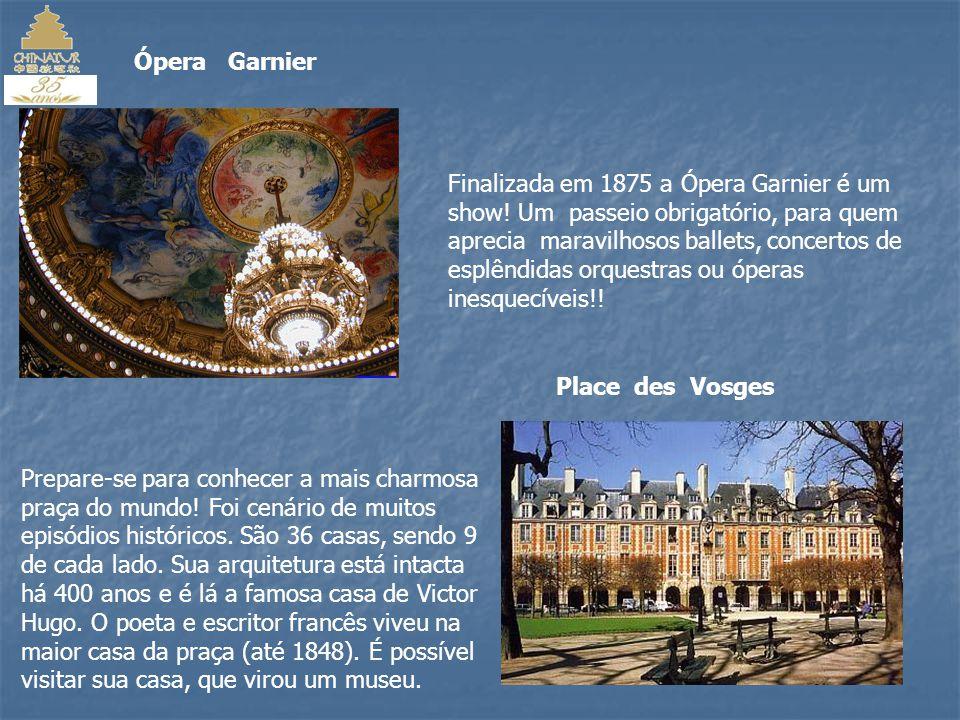 Champs Elysées A avenida mais famosa do mundo, foi criada em 1667 pelo paisagista André Le Nôtre, onde se encontra o famoso Arco do Triunfo.