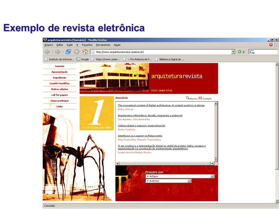 Exemplo de revista eletrônica