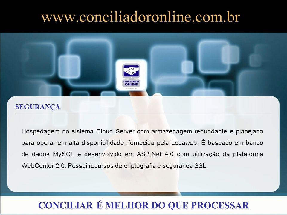 Hospedagem no sistema Cloud Server com armazenagem redundante e planejada para operar em alta disponibilidade, fornecida pela Locaweb. É baseado em ba