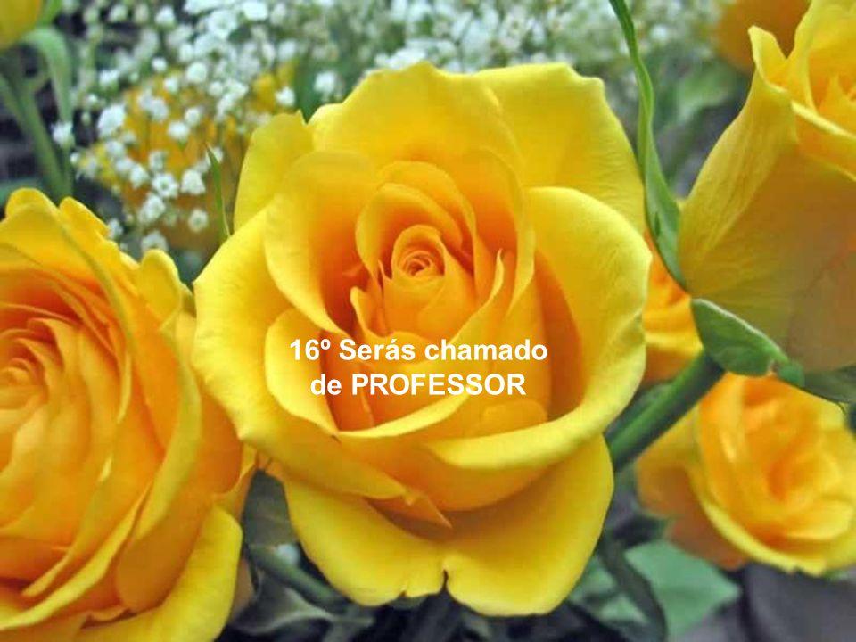 16º Serás chamado de PROFESSOR