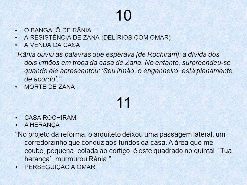 10 O BANGALÔ DE RÂNIA A RESISTÊNCIA DE ZANA (DELÍRIOS COM OMAR) A VENDA DA CASA Rânia ouviu as palavras que esperava [de Rochiram]: a dívida dos dois