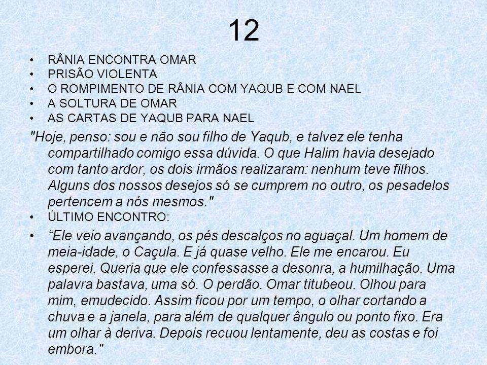 12 RÂNIA ENCONTRA OMAR PRISÃO VIOLENTA O ROMPIMENTO DE RÂNIA COM YAQUB E COM NAEL A SOLTURA DE OMAR AS CARTAS DE YAQUB PARA NAEL
