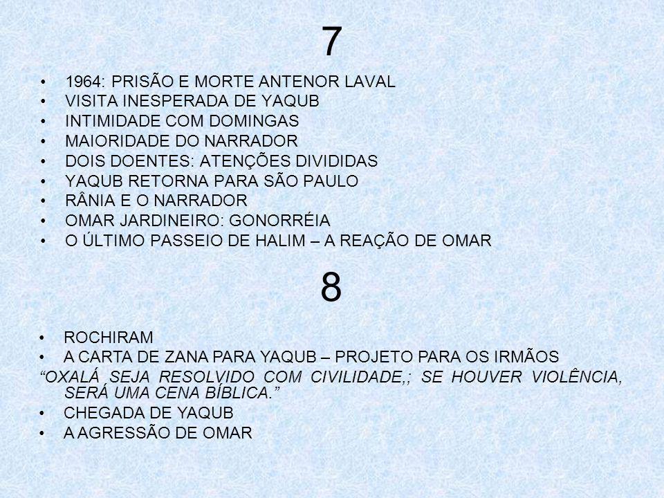 7 1964: PRISÃO E MORTE ANTENOR LAVAL VISITA INESPERADA DE YAQUB INTIMIDADE COM DOMINGAS MAIORIDADE DO NARRADOR DOIS DOENTES: ATENÇÕES DIVIDIDAS YAQUB