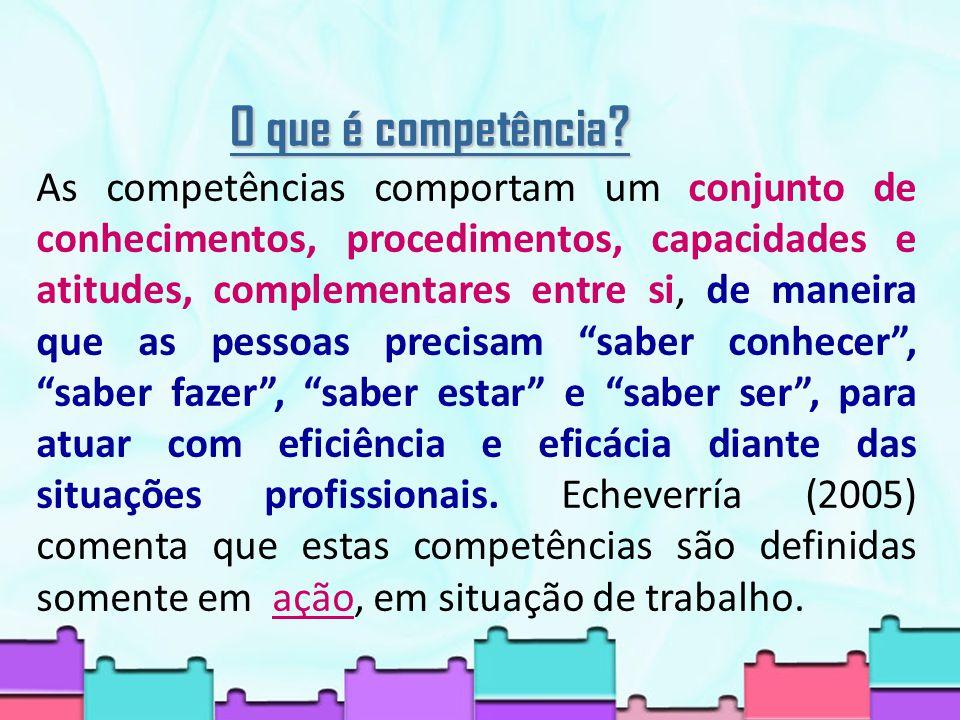 O que é competência.
