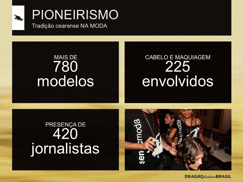 PIONEIRISMO Tradição cearense NA MODA MAIS DE 780 modelos PRESENÇA DE 420 jornalistas CABELO E MAQUIAGEM 225 envolvidos