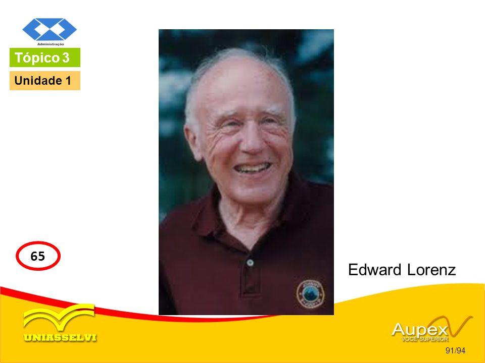 Edward Lorenz 91/94 Tópico 3 65 Unidade 1