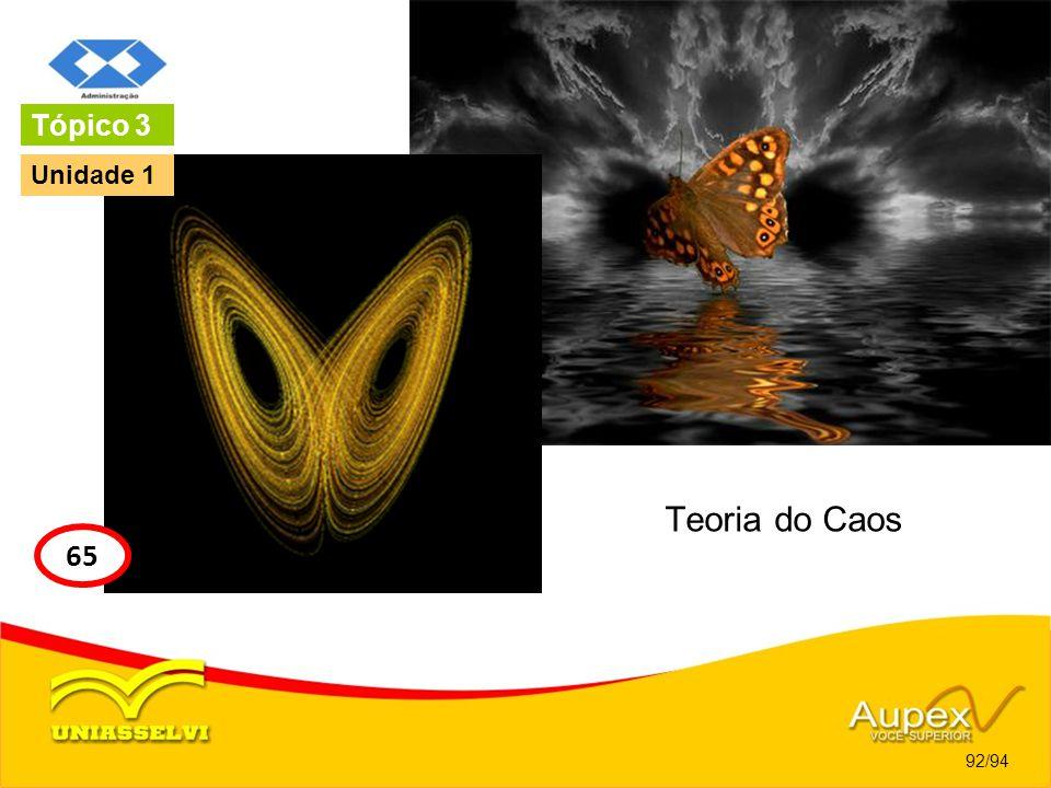 Teoria do Caos 92/94 Tópico 3 65 Unidade 1