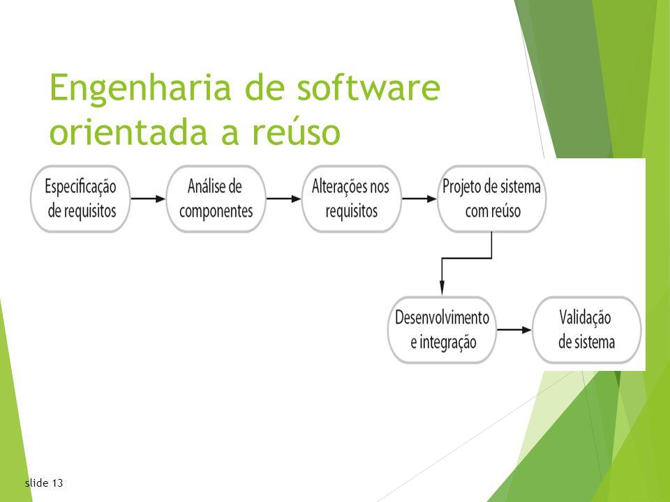 slide 1313 Engenharia de software orientada a reúso