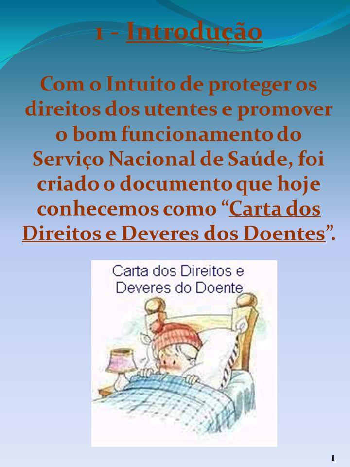 Índice 1 – Introdução 3 – Direitos dos doentes 18 – Deveres dos doentes 24 – Conclusão 25 – Bibliografia