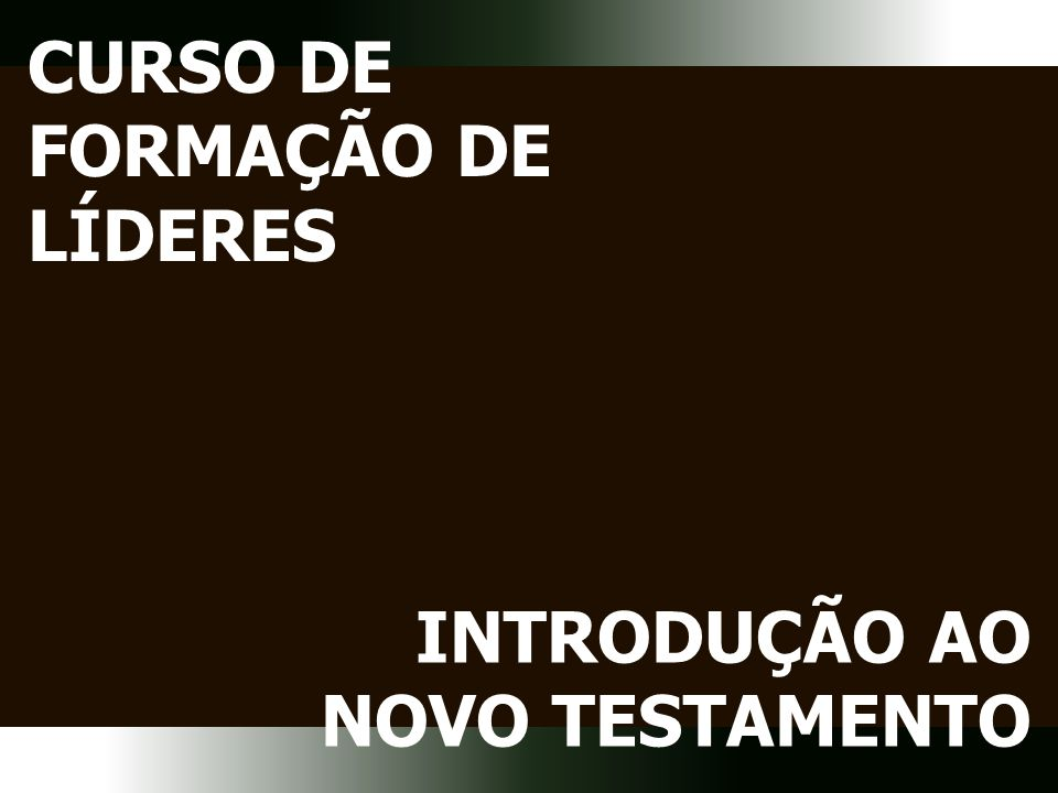 CFL Introdução ao NT Painel Temático MINISTÉRIO DE JESUS Ensino Propósito Tempo Reino Obra Sabe o que foi revelado pelo Pai (Jo 5:20) Agiu pelo poder do Espírito Santo (At 10:38)