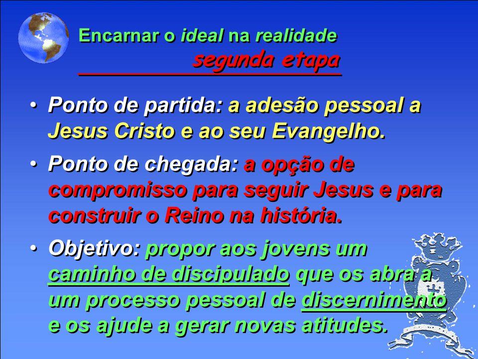 Meios (continuado) - Questionamos certas slogans sobre o Evangelho e sobre os valores cristãos. - Facilitamos a criação de laços profundos, de sentime