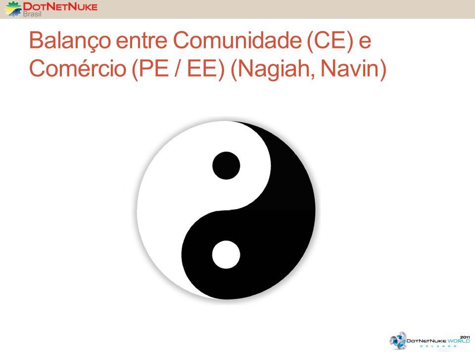 Balanço entre Comunidade (CE) e Comércio (PE / EE) (Nagiah, Navin)
